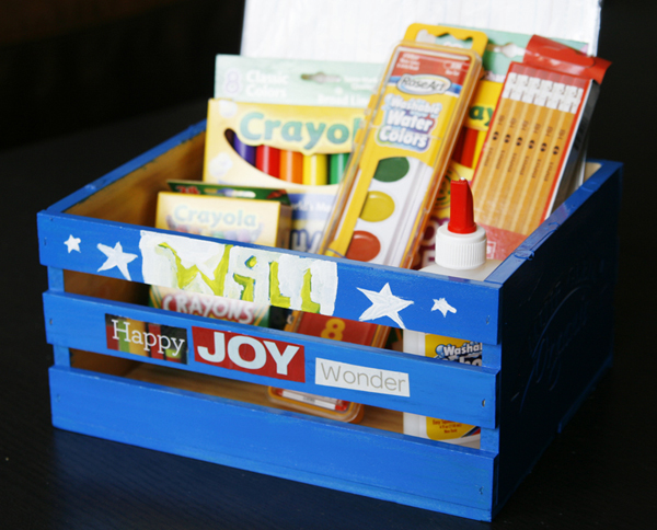 DIY Homework Crate on allParenting.com