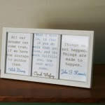 DIY Inspirational Quote Frame