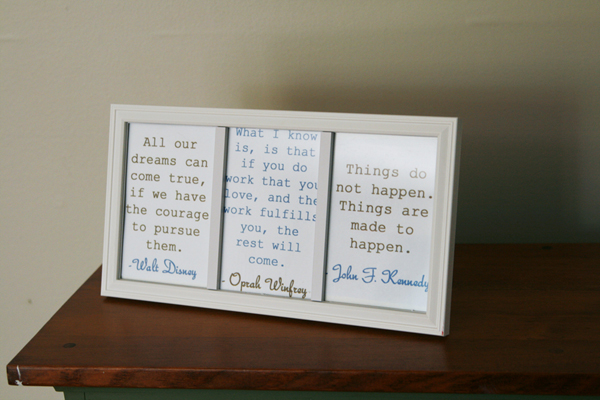 DIY Inspirational Quote Frame on allParenting.com