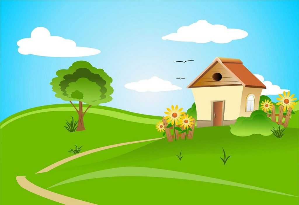 "An illustration of a house in the country with lots of green grass, a tree and flowers. Image by <a href=""https://pixabay.com/users/Larisa-K-1107275/?utm_source=link-attribution&utm_medium=referral&utm_campaign=image&utm_content=163526"">Larisa Koshkina</a> from <a href=""https://pixabay.com/?utm_source=link-attribution&utm_medium=referral&utm_campaign=image&utm_content=163526"">Pixabay</a>"